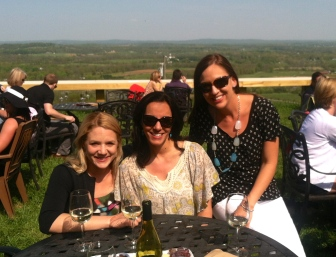 pre-race hydration party...or wine tasting for Kristen's birthday :)
