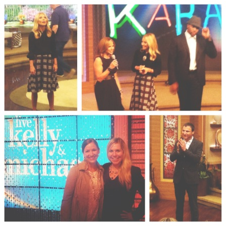 Things I learned: Kelly is TINY, Michael is HUGE, and Katie Couric has great arms. Loved them all!