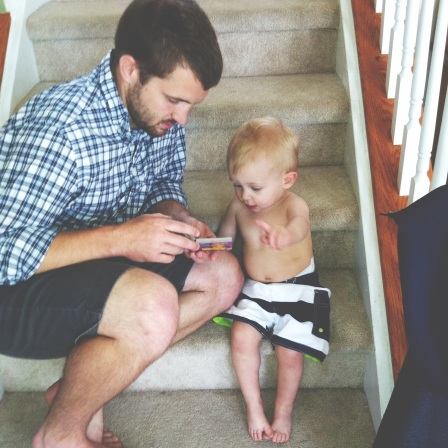 Yes, I let him wear his bathing suit all day (he was channeling his Godfather, Peter). No judgement.